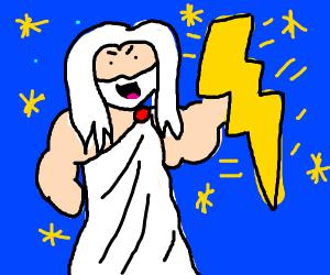 Zeus's with lightning