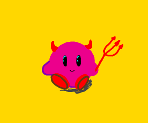 Kirby's devil halloween costume