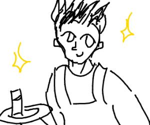 Lenny faced waiter