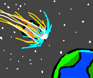Meteor destroying the dinosaurs