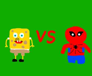 Spongebob vs Spider-Man