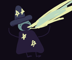 wizard with a laser cannon