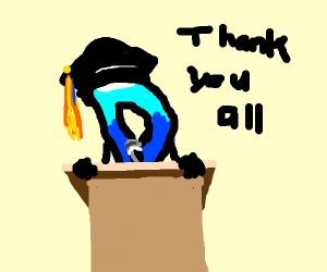 Drawception D finishing his Major.