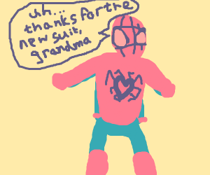 granma's knitted spidersuit