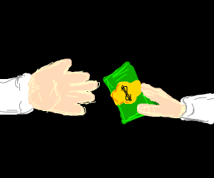 giving your money away