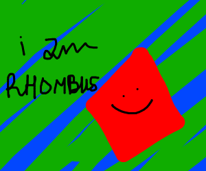 Self-aware rhombus