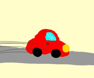 Speeding Car