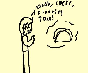 someone hallucinating