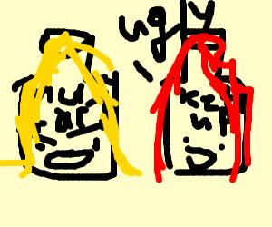 """ketchup calls depressed mustard """"ugly"""""""