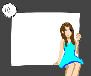 Anime Girl escaping the panel
