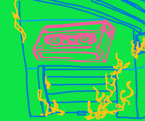 Burning VCR tape warehouse