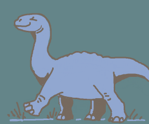 Complacent blue dinosaur