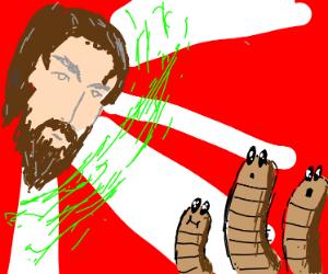 worms talking to jesus