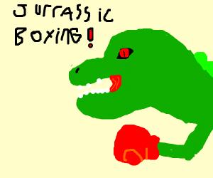 T-Rex boxing