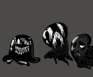 Creepy Black Blobs