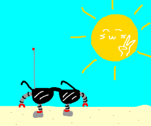 android glasses and kwaii sun