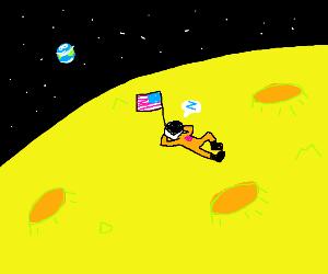 asleep on the moon