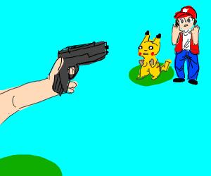 pokemon but the pokemon are guns