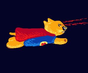 superman but a cat, so supercat