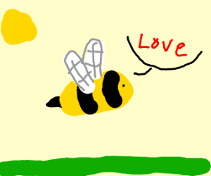 bee says love