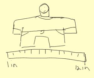 1 foot wide man