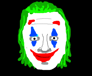the joker, but his forehead is LONG