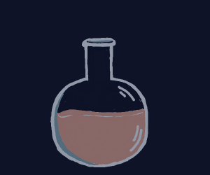 Chocolate milk in a potion bottle