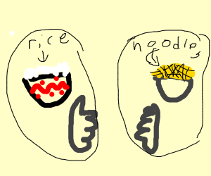 rice is better than noodles