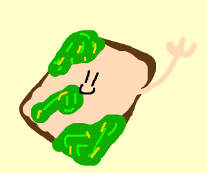 Moldy sandwich waves hello