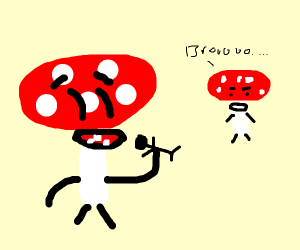 Mushrooms high on people