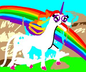 a unicorn screams