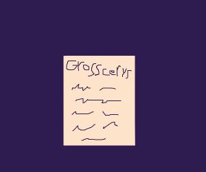grosscery list