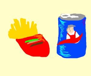 kfc pepsi burger fries