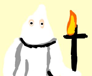 kkk member burns cross