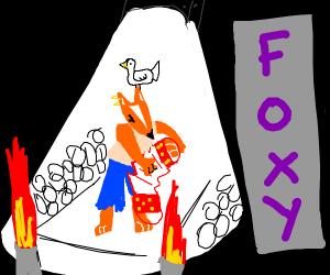 Rockstar Foxy with Bird and Accordion