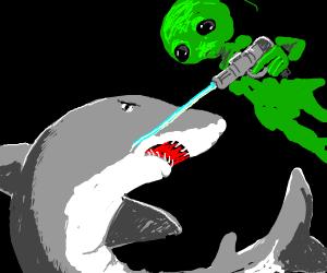 aliens vs sharks