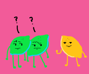 Limes confused about lemon