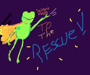 Super froggo bouncing to rescue