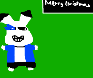 sans pikachu wishing you a merry christmas