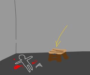 Step Ladder on a crime scene