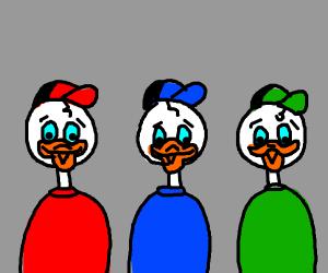 Trio of Disney Ducks