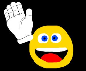 waving emoji