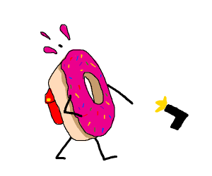A donut died on its way to school