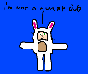 rabbit girl says she is not a furry