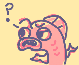 Confused pink fish