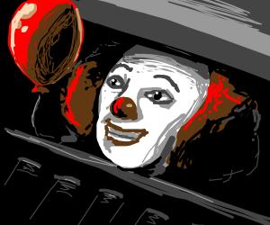 Clown with a balloon
