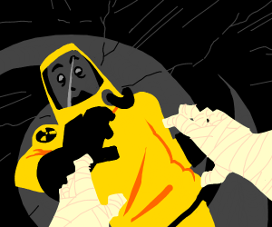 Hazmat man saying you are mummy