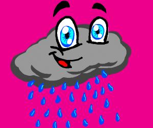 Rainy cloud wants to be happy