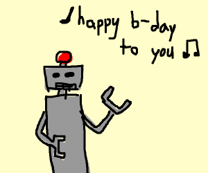 robot singing happy birthday
