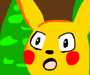Pikachu but with anime eyes